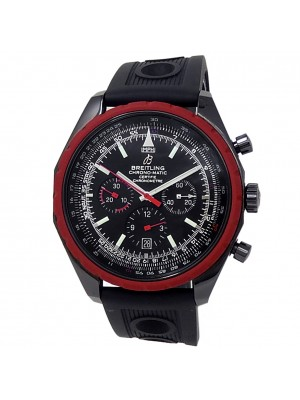 Breitling Chrono-Matic Black PVD Stainless Steel Auto Black Men's Watch M14360