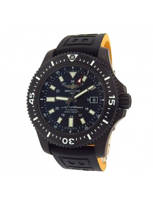 Breitling Superocean M17393 Black Stainless Steel Rubber Automatic Black Men's Watch