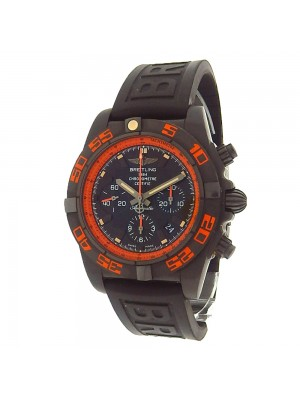 Breitling Chronomat 44 Raven MB0111 Black Stainless Steel Rubber Automatic Black Men's Watch