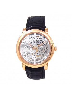 Harry Winston Midnight Skeleton 18k Rose Gold Automatic Men's Watch MIDAHM42RR01