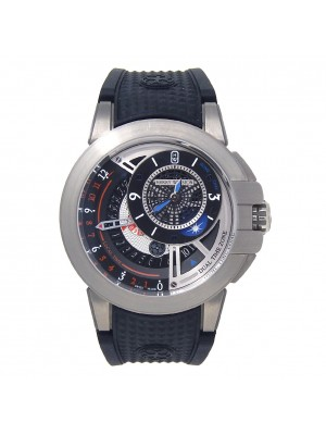 Harry Winston Project Z8 Dual Time Zalium Automatic Men's Watch OCEATZ44ZZ009