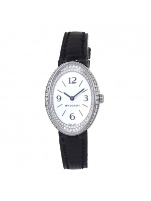 Bvlgari Ovale 18k White Gold Quartz Ladies Watch OVW32G