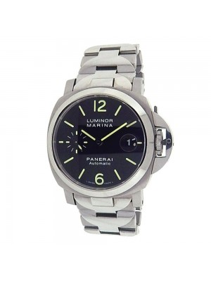 Panerai Luminor Marina Black Dial Stainless Steel  Automatic Mens Watch PAM00050