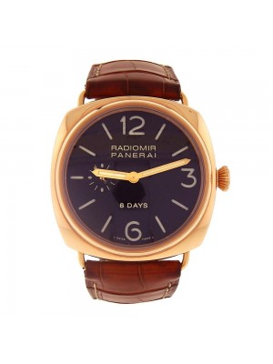 Panerai Radiomir 8 Days 18k Rose Gold Hand-Winding Men's Watch PAM00197