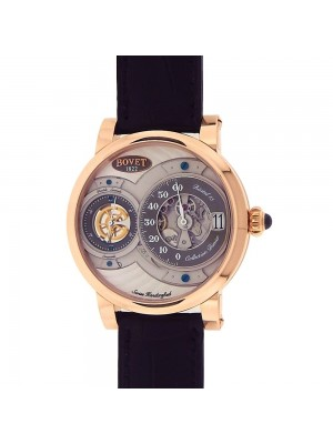 Bovet Dimier Recital 15 18k Rose Gold Grey Dial Mechanical Men's Watch R150005
