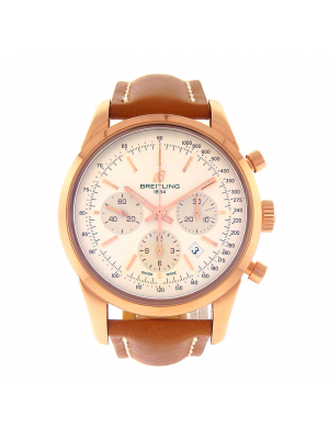 Breitling Transocean Chronograph 18k Rose Gold Auto Chronograph Watch RB0152