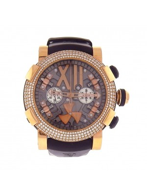 Romain Jerome Steampunk Chronograph 18K Gold Diamonds Automatic RJT.CH.SP.003.03