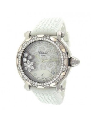 Chopard Happy Sport Snowflakes 28/8946 Stainless Steel Diamonds Snowflakes Watc