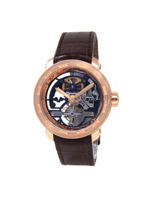 DeWitt Twenty 8 Eight Tourbillon 18k Rose Gold Skeleton Men's Watch T8.TH.008A