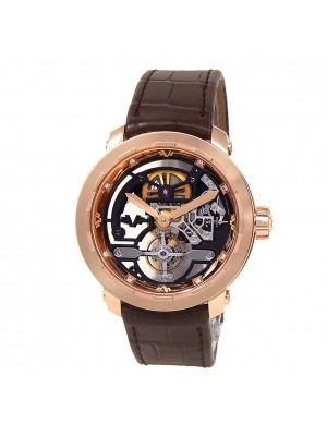 DeWitt Twenty 8 Eight Tourbillon 18k Rose Gold Skeleton Men's Watch T8.TH.008C