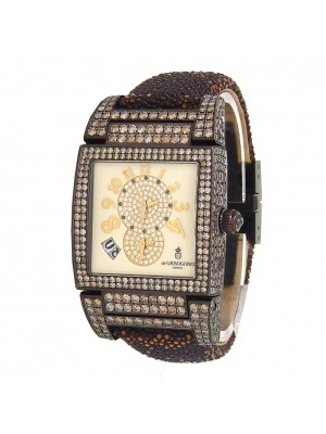 De Grisogono Instrumento Uno Women Brown PVD Coated 18k White Gold UNO DF S30
