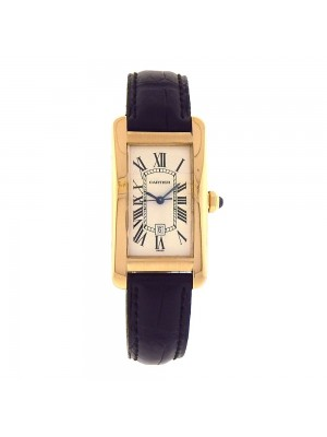 Cartier Tank Americaine 18K Yellow Gold Roman Numerals Automatic Watch W2603156