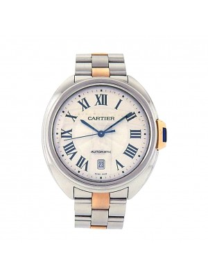 Men's Cartier Cle de Cartier 18k Gold and Stainless Steel Automatic Dress Watch