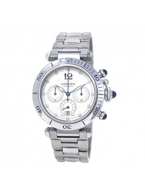 Cartier Pasha Seatimer Stainless Steel Automatic Chronograph Mens Watch W31030H3