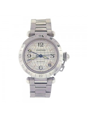 Cartier Pasha Stainless Steel Silver Dial Automatic Men's Watch W31078M7