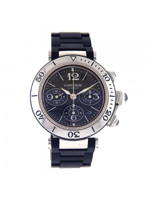 Cartier Pasha Seatimer Stainless Steel Automatic Chronograph Mens Watch W31088U2