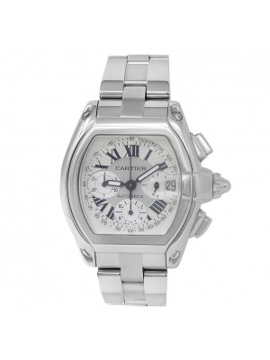 Cartier Roadster XL Stainless Steel Chronograph Auto Silver Men's Watch W62006X6