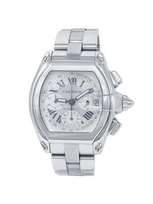 Cartier Roadster XL Stainless Steel Automatic Silver Men's Watch W62006X6