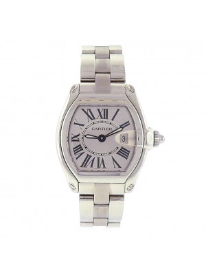 Cartier Roadster W62016V3 Stainless Steel Quartz Silver Ladies Watch