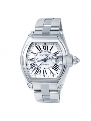 Cartier Roadster GMT XL Stainless Steel Automatic Silver Men's Watch W62032X6