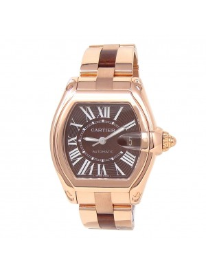 Cartier Roadster XL 18k Rose Gold Men's Watch Automatic W6206001
