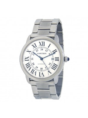 Cartier Ronde Solo de Cartier Date Stainless Steel Automatic Mens Watch W6701011