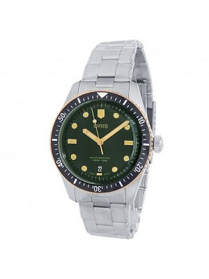 Oris Divers Sixty-Five Stainless Steel Auto Green Men's Watch 01 733 7707 4357