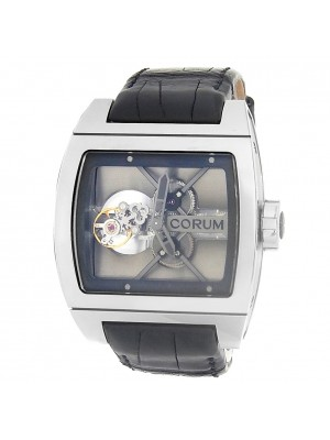 Corum Ti-Bridge Tourbillon Titanium Leather Skeleton Watch 022.700.04/0F01 0000
