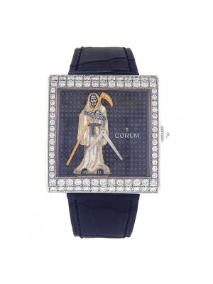 Corum Buckingham 18k White Gold Diamond Bezel and Dial Manual Watch 055.182.69