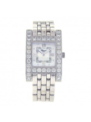 Chopard H Diamond 18k White Gold Swiss Quartz Ladies Watch 10/6805