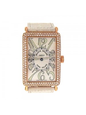 Franck Muller Long Island 18K Rose Gold Diamond Bezel Automatic Watch 1000 SC D