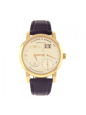 A.Lange & Sohne Lange 1 18k Yellow Gold Power Reserve Mechanical Watch 101.021