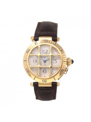 Cartier Pasha Grille 18k Yellow Gold Automatic Men's Watch 1021