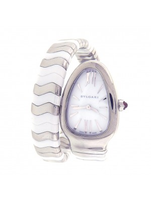 Bvlgari Serpenti Spiga 102182 SP35WSWCS.1T Stainless Ceramic Spiral Ladies Watch