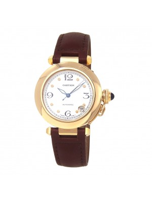 Cartier Pasha 18k Yellow Gold Automatic Ladies Watch 1035