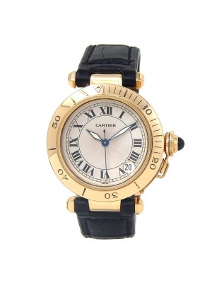 Cartier Pasha 18k Yellow Gold Automatic Men's Watch 1035