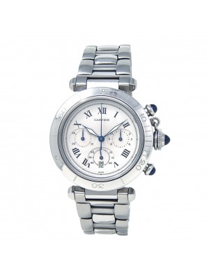 Cartier Pasha Stainless Steel Quartz Men's Watch 1050