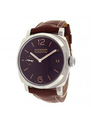 Panerai Radiomir 3 Days PAM00514 Stainless Steel Leather Black Men's Watch