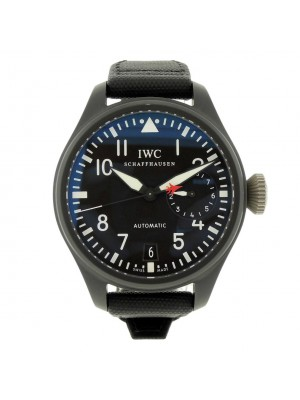 IWC Big Pilot Top Gun 7 Days IW501901 Date Black Ceramic Titanium Mens Watch