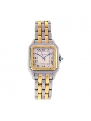 Cartier Panthere 18k Yellow Gold & Stainless Steel Quartz Ladies Watch 1100