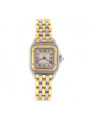 Cartier Panthere Stainless Steel & 18k Yellow Gold Quartz Ladies Watch 112000R