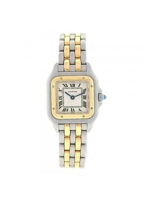 Cartier Panthere Stainless Steel and 18k Yellow Gold Quartz Ladies Watch 1120