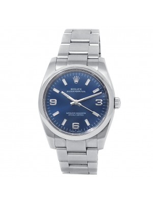 Rolex Oyster Perpetual Stainless Steel Oyster Automatic Blue Men's Watch 114200