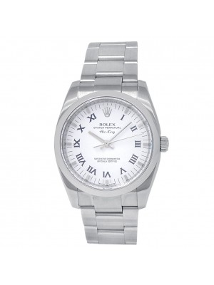 Rolex Oyster Perpetual Air-King Stainless Steel Oyster White Men's Watch 114200