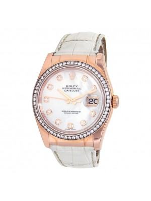 Rolex Datejust (V Serial) 18k Rose Gold Automatic Ladies Watch 116185