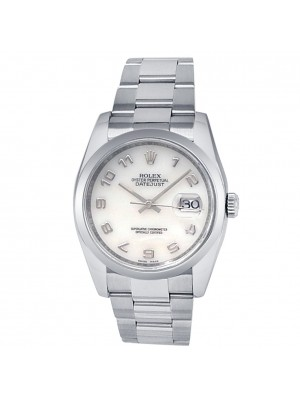 Rolex Datejust Stainless Steel Oyster Auto Mother of Pearl Men's Watch 116200
