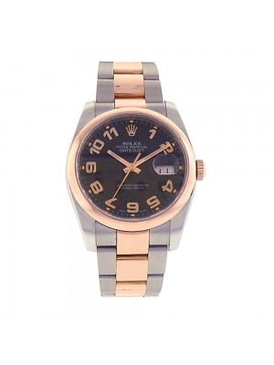 Rolex Datejust 18k Rose Gold & Stainless Steel Automatic Men's Watch 116201