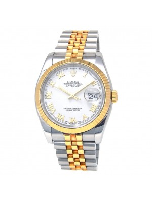 Rolex Datejust F Serial 18k Yellow Gold & Stainless Steel Automatic Watch 116233