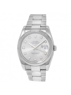 Rolex Datejust Stainless Steel Oyster Automatic Silver Men's Watch 116234