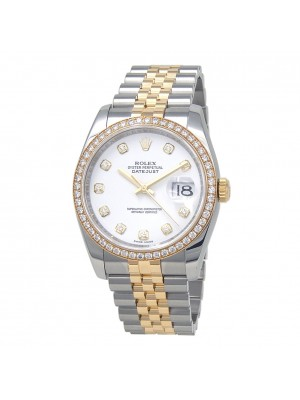 Rolex Datejust 18k Yellow Gold & Stainless Steel Automatic Men's Watch 116243